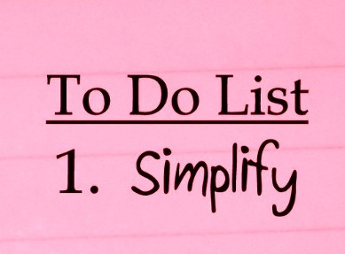 What's on YOUR to do list this week? Mine is simple.