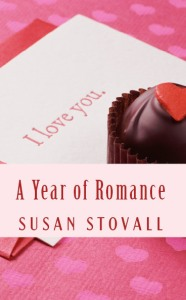 paperback edition cover of A  YEAR OF ROMANCE Feb 2015